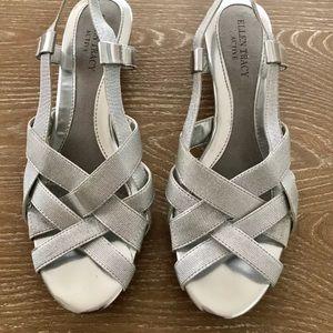 Ellen Tracy Active wedge sandals solver size 6.5